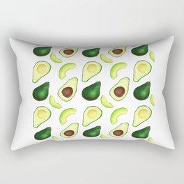 Avocado pattern // Watercolor style avocado decor // Avocado lover Rectangular Pillow