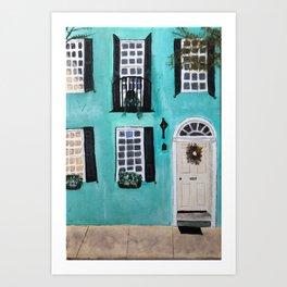Charleston Rainbow Row House Art Print