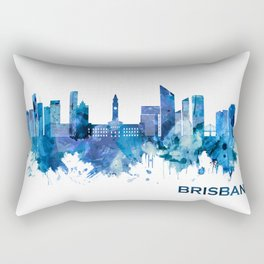 Brisbane Australia Skyline Blue Rectangular Pillow