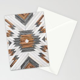 Urban Tribal Pattern No.8 - Aztec - Wood Stationery Cards