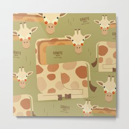Giraffe, African Wildlife Metal Print