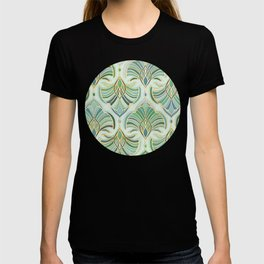 Jade Enamel Art Deco Fans T-shirt