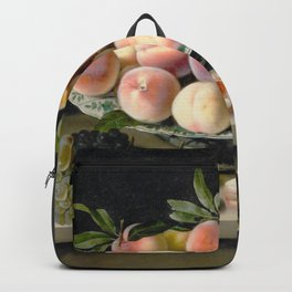 Moillon 17th Century Still Life With Peaches & Grapes Backpack