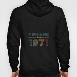 Vintage since 1971 49th Birthday Men Hoody