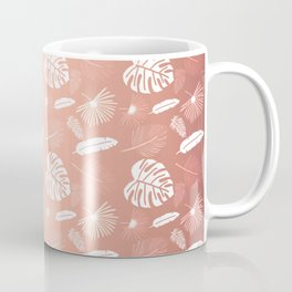 Golden Pink Tropical leaf Coffee Mug