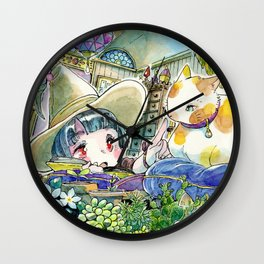 Witch apprentice Wall Clock