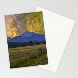 Milky way over Beyer peak Stationery Cards