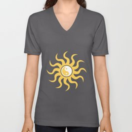 Yin yang sunshine Unisex V-Neck