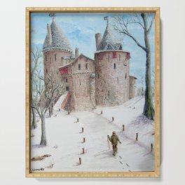 Castell Coch (Red Castle) - Winter Serving Tray