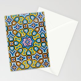 Persian Mosaic Tile Pattern Stationery Cards