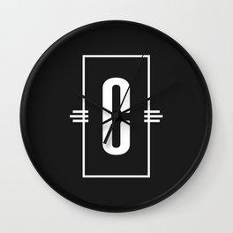 Modern Monogram  Letter C Black and White Wall Clock