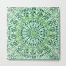 Mary Jane Mandala (green) Metal Print
