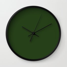 Simply Solid - Dark Forest Green Wall Clock