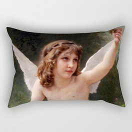 "William-Adolphe Bouguereau ""Le Captif (The Prisoner)"" Rectangular Pillow"