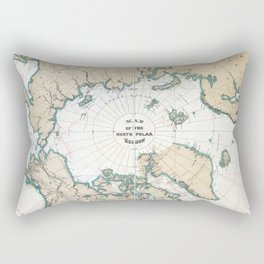 Vintage Map of the North Pole Rectangular Pillow