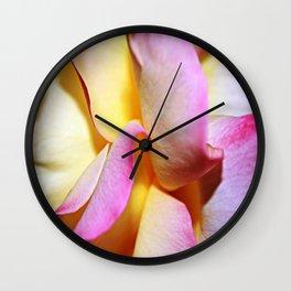 Peace Rose Petals Wall Clock