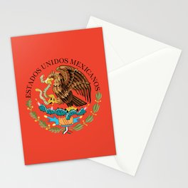 Mexican Flag seal on orange Stationery Cards