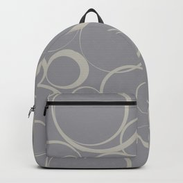 Funky Ring Pattern V12 Pantone's 2021 Color of the year Ultimate Gray 17-5104 and Lead Crystal  Backpack