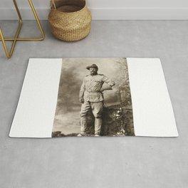 Col. Theodore Roosevelt, in Rough Rider Uniform Rug
