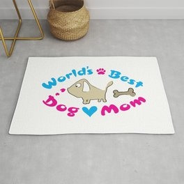 World's best dog mom Rug