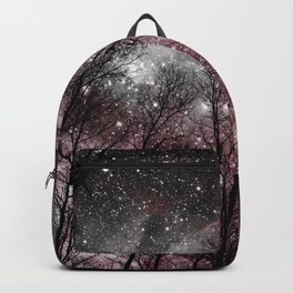 Black Tress Pink & Gray Space Backpack