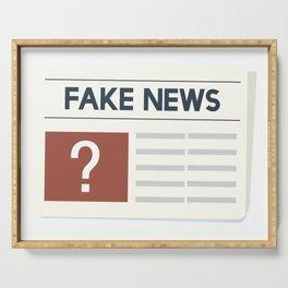 Fake News Serving Tray