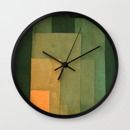 "Paul Klee ""Tower in Orange and Green 1922"" Wall Clock"