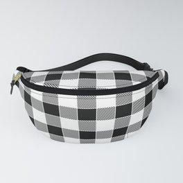 Buffalo Check - black / white Fanny Pack