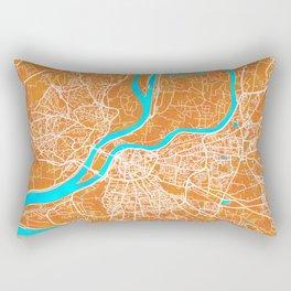 Avignon, France, Gold, Blue, City, Map Rectangular Pillow