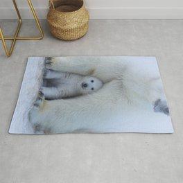 Polar Bear Mother and Cub Rug