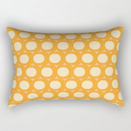 Dots and Triangles Yellow  #midcenturymodern Rectangular Pillow