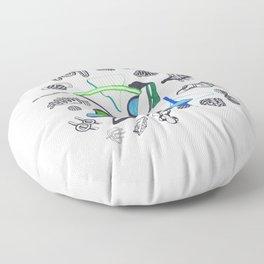 paraphysics Floor Pillow