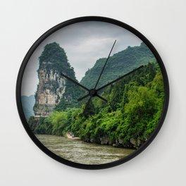 Karst formation on the Li River Guilin, China Wall Clock