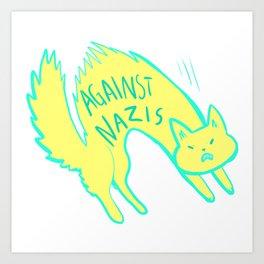 cats against Art Print