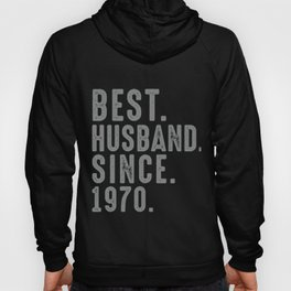 Best. Husband. Since. 1970 49th Wedding Anniversary for Him Hoody