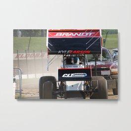 Kyle Larson motor heat Metal Print