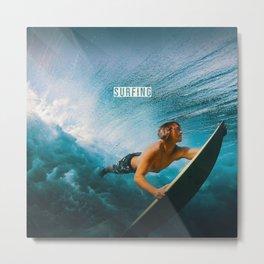 Surfing Metal Print