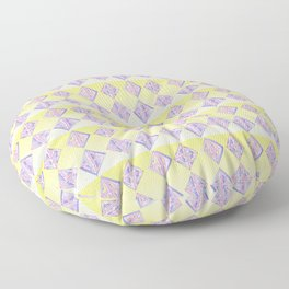 square abstraction-mutlicolor,abstraction,abstract,fun,rectangle,square,rectangled,geometric,geometr Floor Pillow