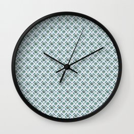Blue Brassicas Wall Clock