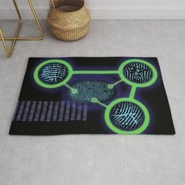 CSI Forensic Fingerprint Cool Science Illustration Rug