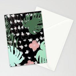 Vegetal flowers palm leaves Fleurs feuilles de palmier Stationery Cards
