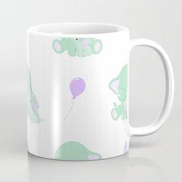 Elephants - Green and Purple Coffee Mug