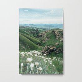 Drakensberg green mountain valley landscape Metal Print
