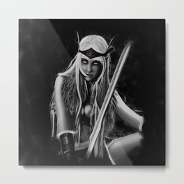 DROW WARRIOR Metal Print