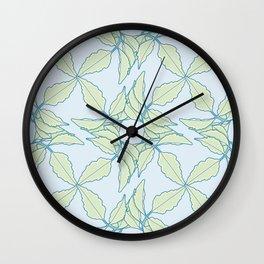 Serrated Leaflet Grid Pattern Wall Clock