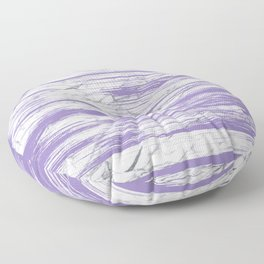 Modern abstract violet watercolor brushstrokes marble pattern Floor Pillow