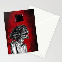 The blood moon Queen Stationery Cards