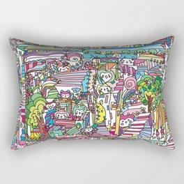 doodle owl village 2 Rectangular Pillow
