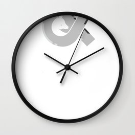 Ghosts & Horses logo tee Wall Clock