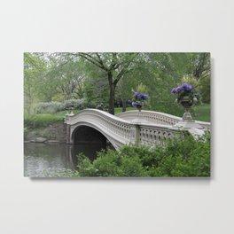 Bow Bridge Central Park New York Metal Print